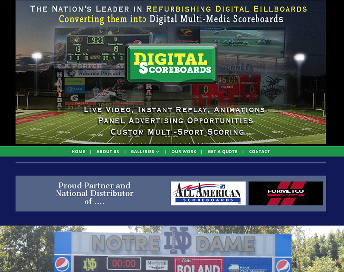 Web site for Digital Scoreboards
