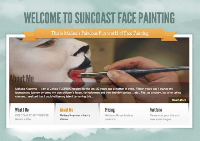 Sun coast face painting website