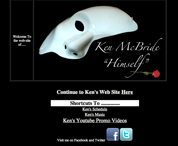 Ken McBride Himself website