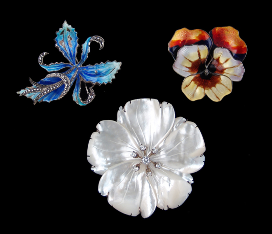 Brooch trio