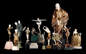 Bronze Ivory Figures