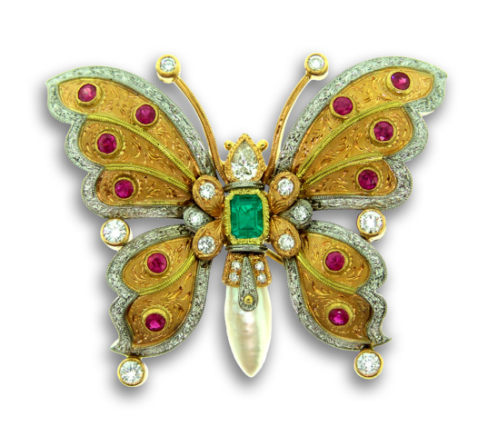 Butterfly with jewels