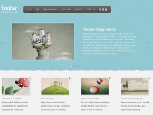Elegant Themes Feather Sample