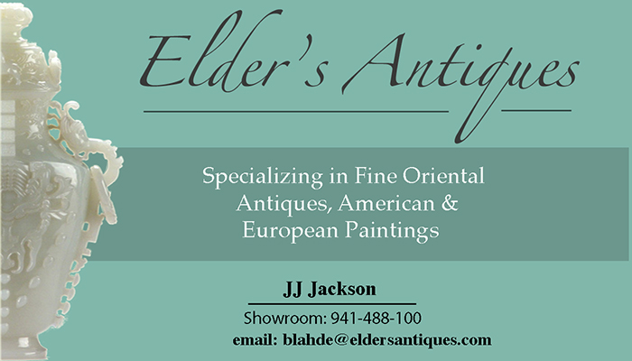 Elder's Antiques Business card