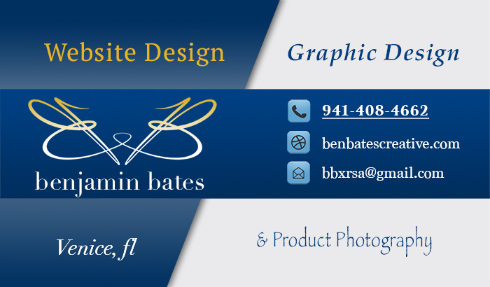 Ben Bates Creative Business Card Graphic
