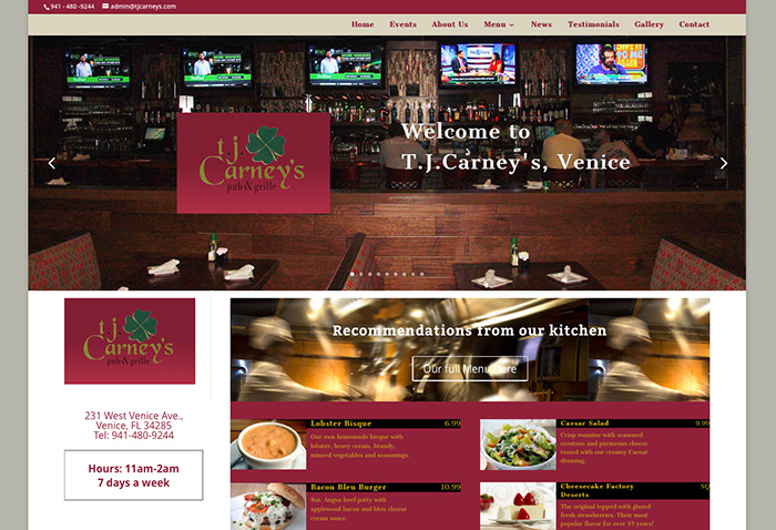 TJ Carney's Website
