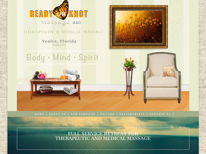 Ready Or Knot Massage Website