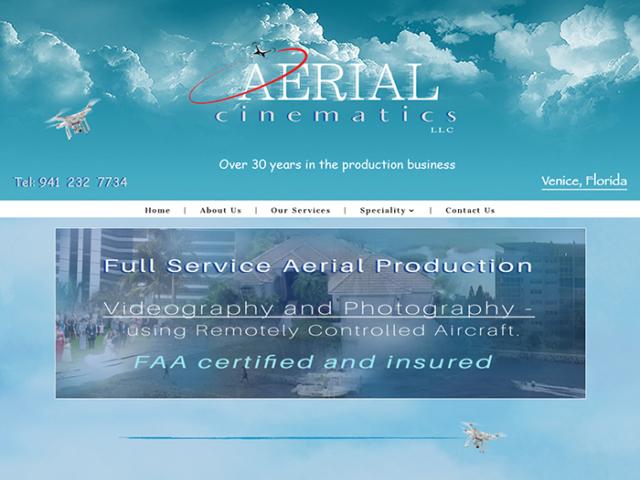 Aerial-Cinematics Website