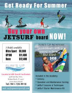 JetSurf Motorized Surf Board Promotion